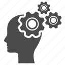 Brain gears icon png