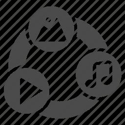 audio, content, file, image, multimedia, seo, sound icon
