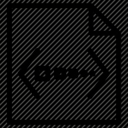 big, code, data, file, meta, open icon