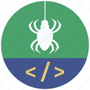 bug, code, mobile marketing, seo icons, seo pack, seo services, web design icon