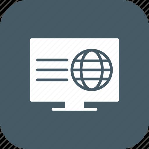 browser, web, webpage, website icon