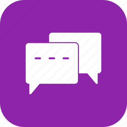 bubble, chat, conversation, talk icon