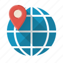 development, globe, local, location, network, search, seo icon