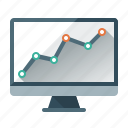analysis, analytics, chart, monitor, monitoring, rankings, seo icon