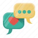 blogging, chat, comments, conversation, dialogue, social, social activity icon