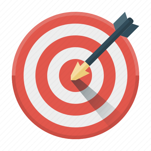 aim, arrow, market, purpose, seo, target, targeting icon