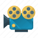 camera, marketing, movie, promotion, record, seo, video icon