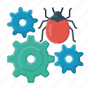 bug, bug fixing, fixing, cogwheels, correction, error, reprogramming