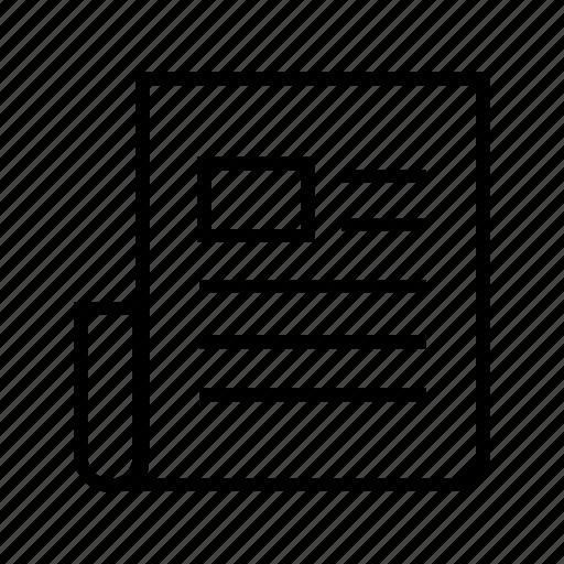 document, magazine, news ad, newsletter, notice, report icon
