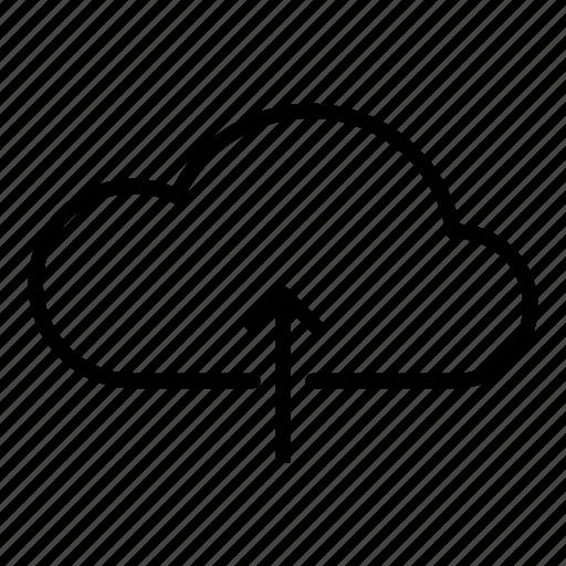 add, cloud, cloud server, data, transfer icon