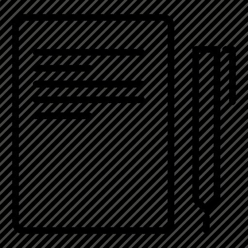 article, blog, compose, content, copywriting icon