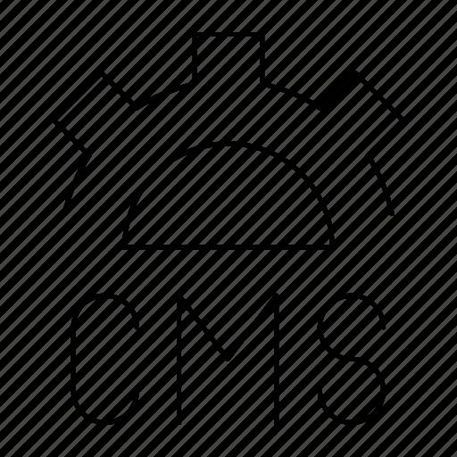 cms, devloppment, gear, websites icon