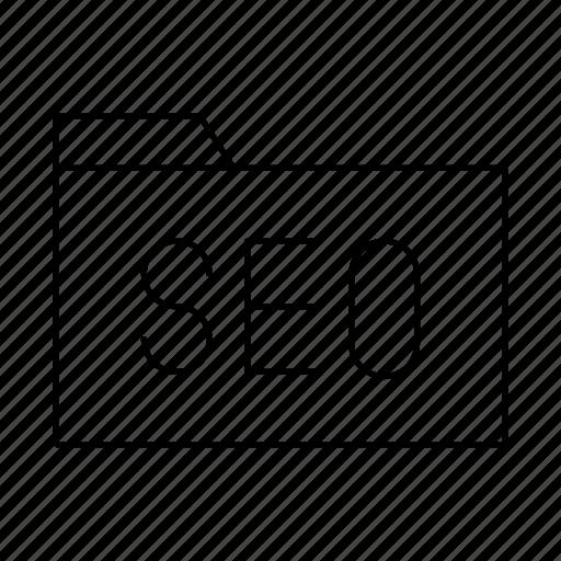 documents, folder, seo icon