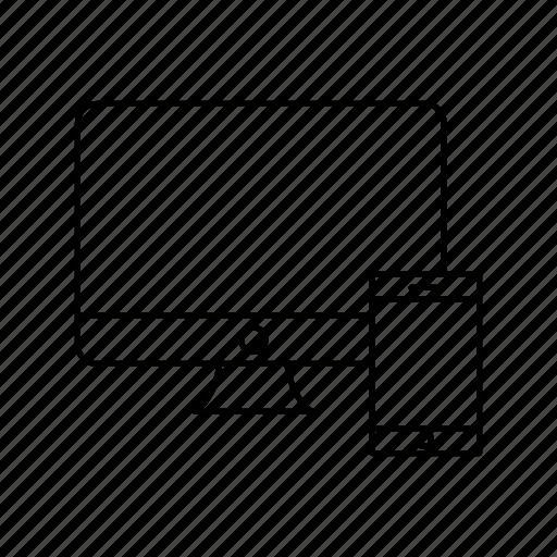 pc, phone, responcive icon