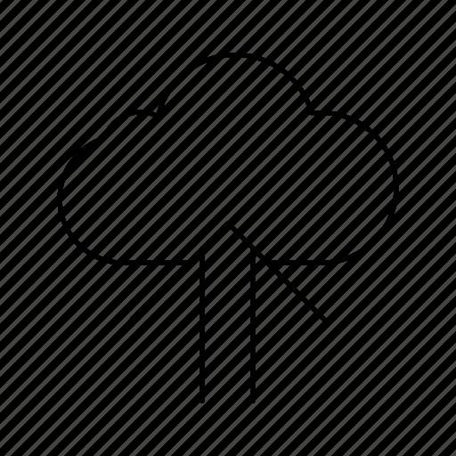 arrow, cloud, up, uploaduparrow icon