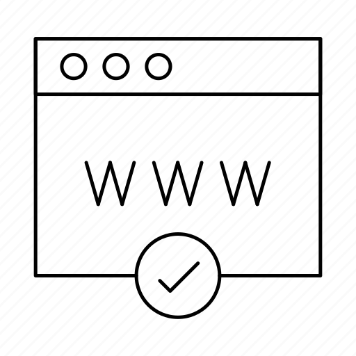 checkmark, page, www icon