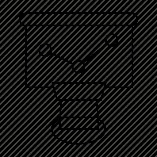 diagram, graph, search icon