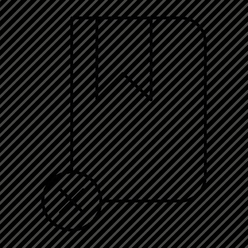 book, cancel, cross, rebbon icon