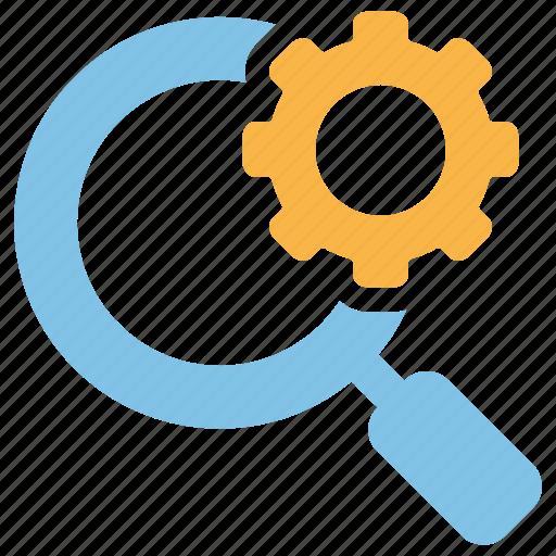 customisation, explore, optimisation, search, setting icon