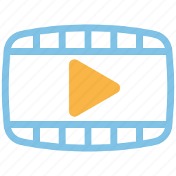 media, presentation, promotion, video icon