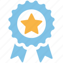 achievement, award, badge, medal, prize, ribbon, trophy icon