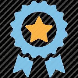 achievement, award, badge, medal, prize, ribbon, trophy icon