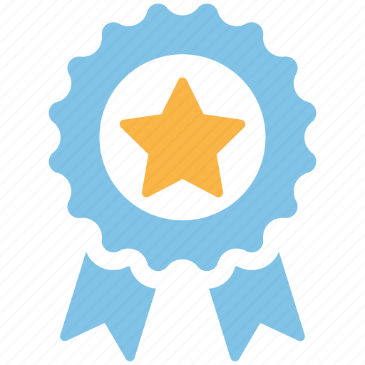 Badge, achievement, ribbon, trophy, medal, prize, award icon - Download