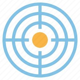 aim, audience, business, financial, marketing, objective, target icon