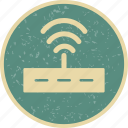internet signals, router, wifi icon