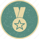 award, gold medal, star medal icon