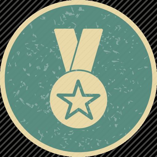 award, gold medal, star medal icon