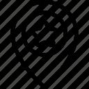 favorite, location, marker, pin, star icon icon