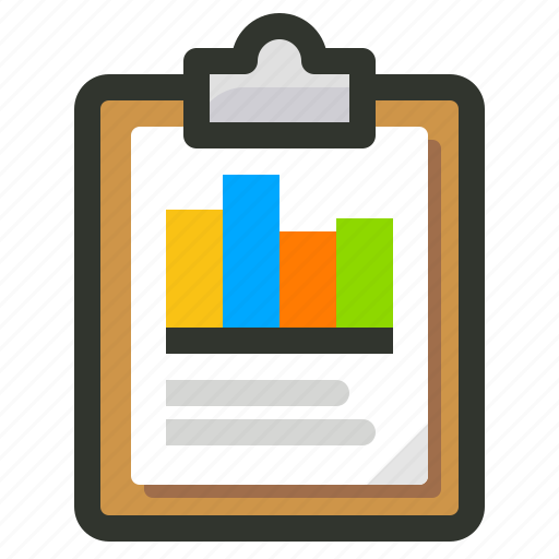 analytics, chart, clipboard, graphs, report, statistics icon