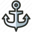 anchor, backlink, building, link, marine, seo icon