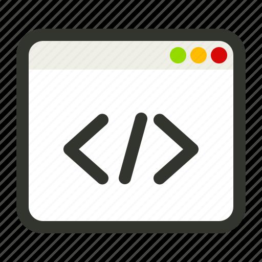 browser, code, coding, custom, development, html, programming icon