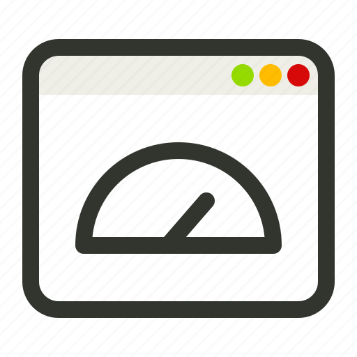 browser, connection, dashboard, page, speed icon