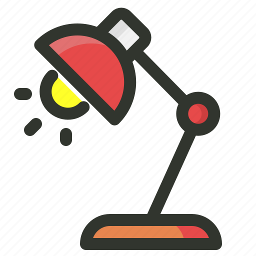 analysis, case, lamp, study, table icon