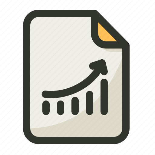 chart, document, file, graph, line, report icon