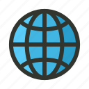 globe, internet, page, web, website icon