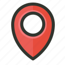 gps, location, marker, optimization, pin, place, target icon