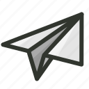 document, mail, message, paper, plane, report, send