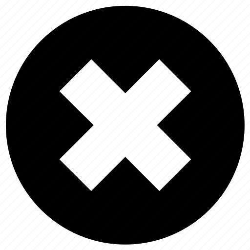 circle, cross, delete, error, multiplication, multiply, sign icon