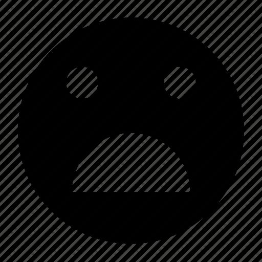 emoji, emoticon, sad, shock, shocked, surprise, surprised icon