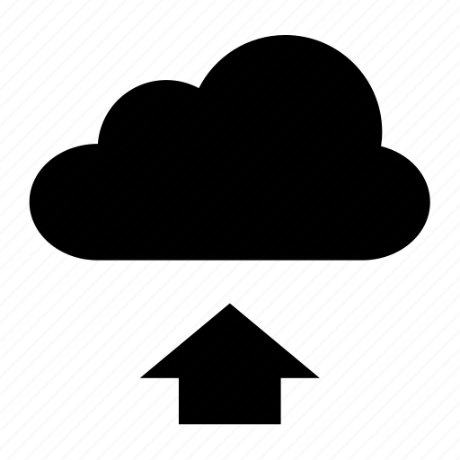 arrow, cloud, document, file, up, upload, weather icon