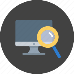 desktop, device, display, monitor, search, seo icon