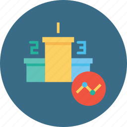 analysis, measure, number, performance, position, statics, valuation icon