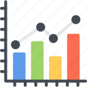 analytics, bar, business, chart, diagram, graph, seo icon