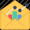 chart, email, statistics, analytics, graph, diagram, seo, report icon