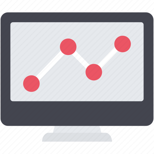 analytics, business, chart, graph, lcd, seo, statistics icon