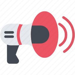 bullhorn, loudspeaker, megaphone, sound, speaker, strike, volume icon